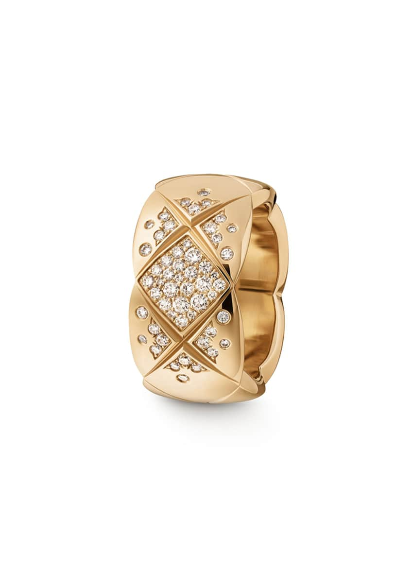 Image 1 of 1: COCO CRUSH RING IN 18K BEIGE GOLD AND DIAMONDS, MEDIUM VERSION.