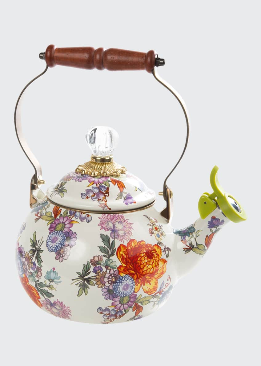Image 1 of 1: Flower Market Whistling Tea Kettle