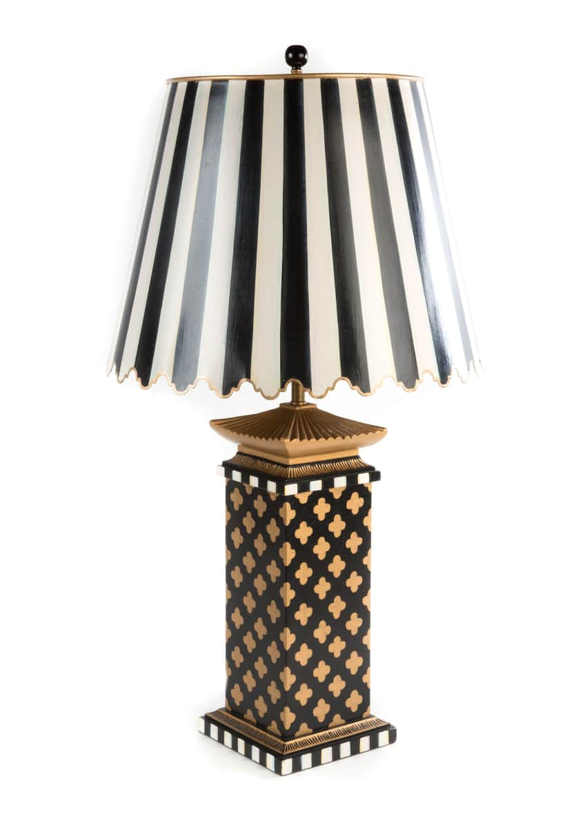 Image 1 of 1: Quatrefoil Large Table Lamp