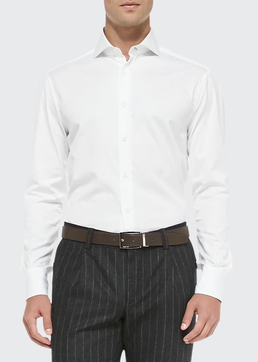 Image 1 of 2: Slim-Fit Button-Down Shirt