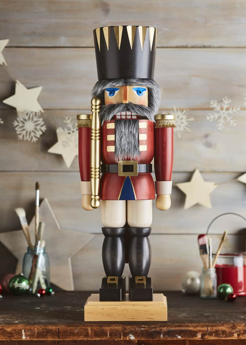 Image 1 of 1: King Red Nutcracker