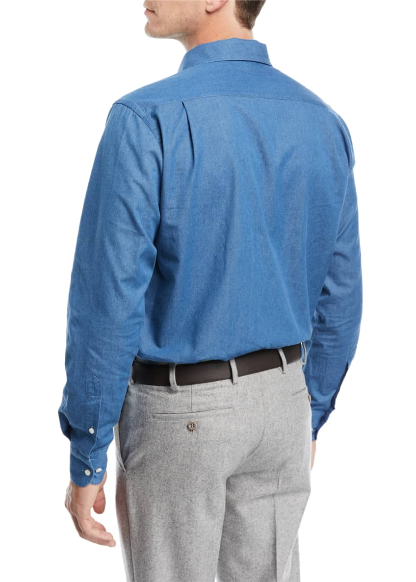 Image 2 of 2: Andre Denim Sport Shirt
