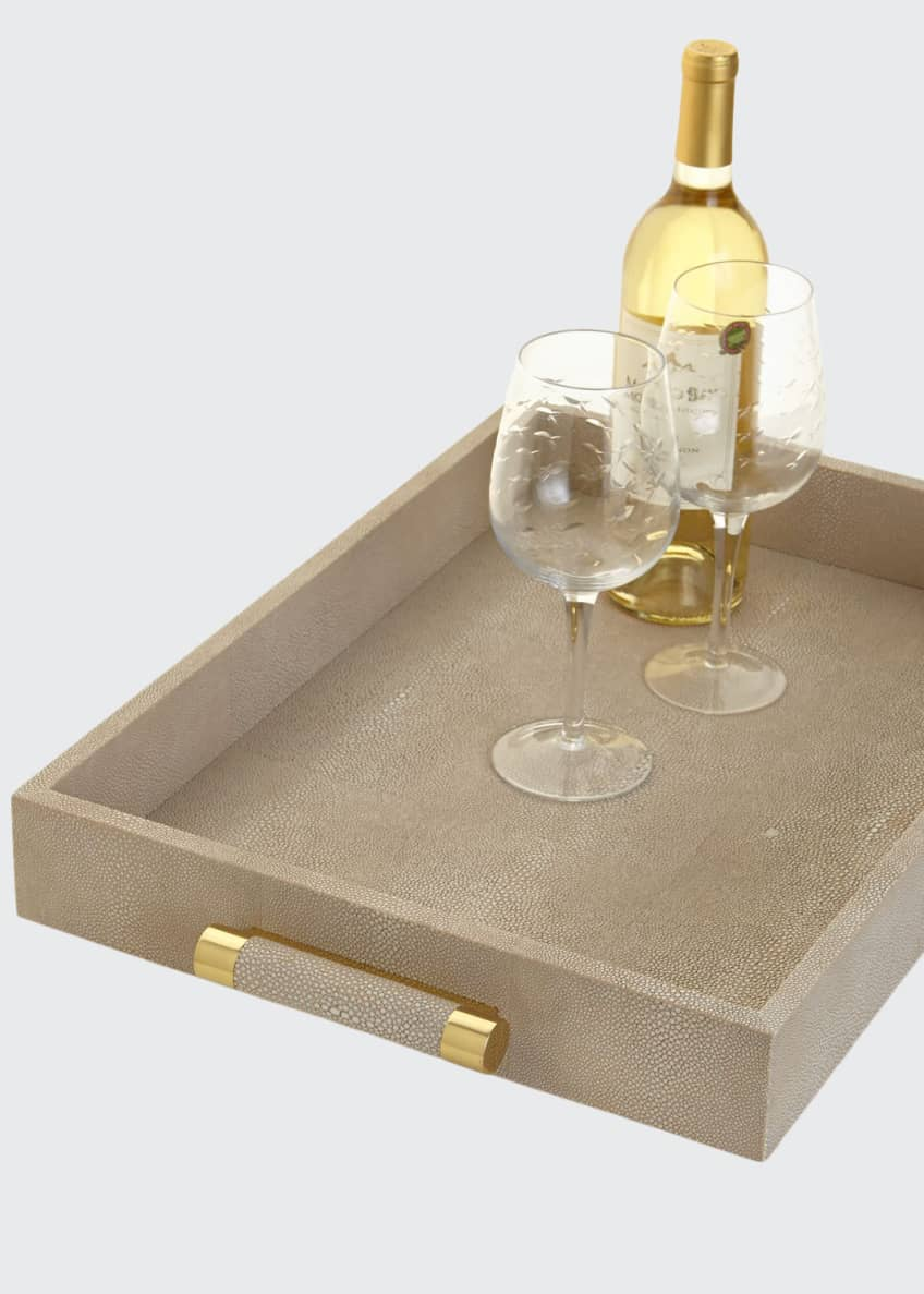 AERIN Wheat Faux-Shagreen Serving Tray