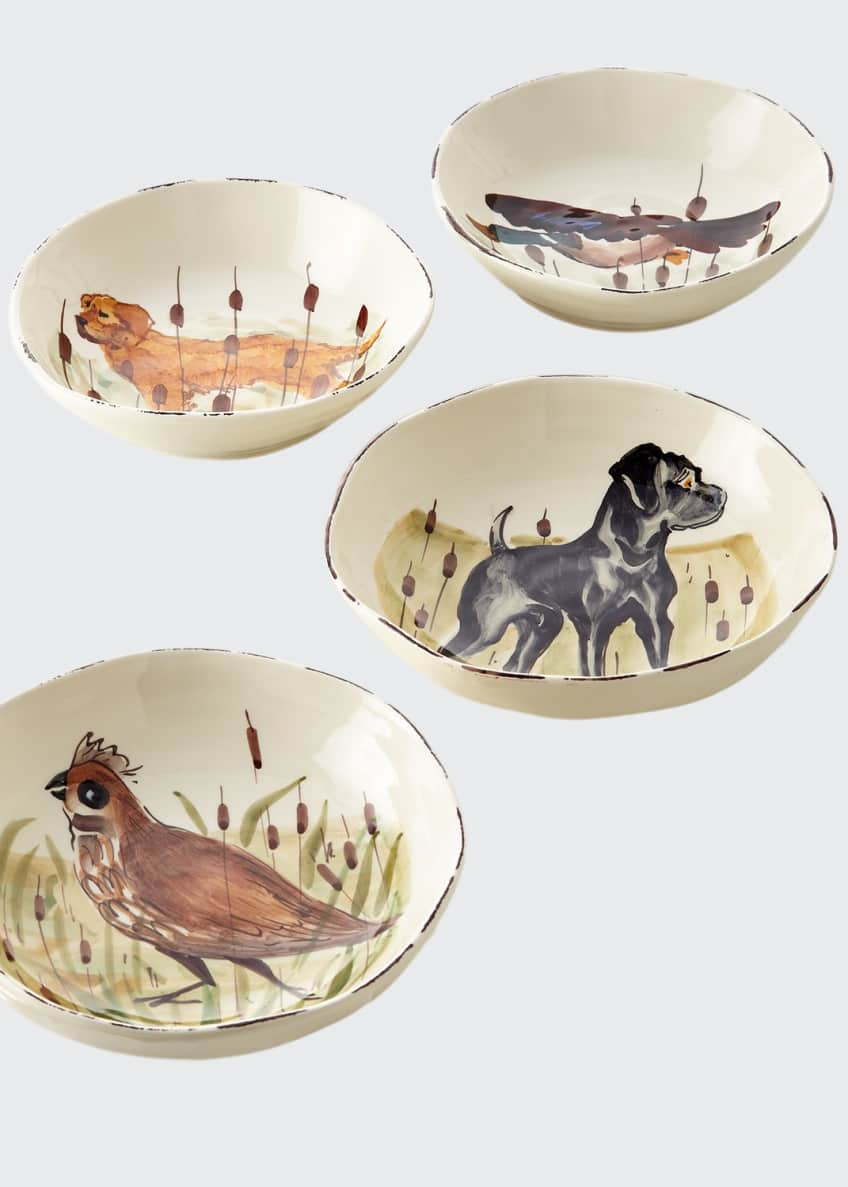 Vietri 4 Assorted Wildlife Pasta Bowls