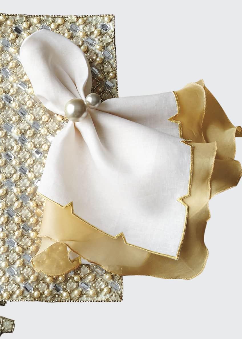 Kim Seybert Diamond Placemat, Divot Napkin, & Pearl