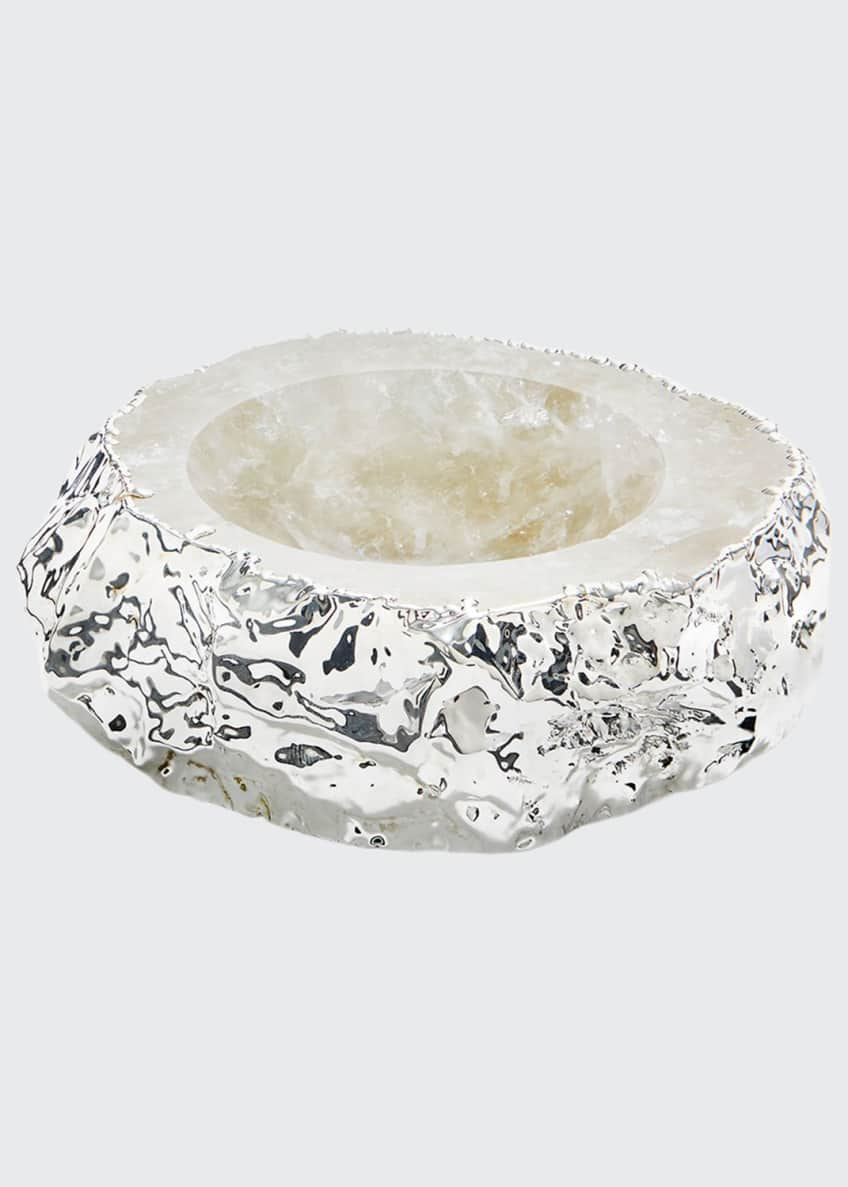 ANNA New York Silver Plated Crystal Bowl