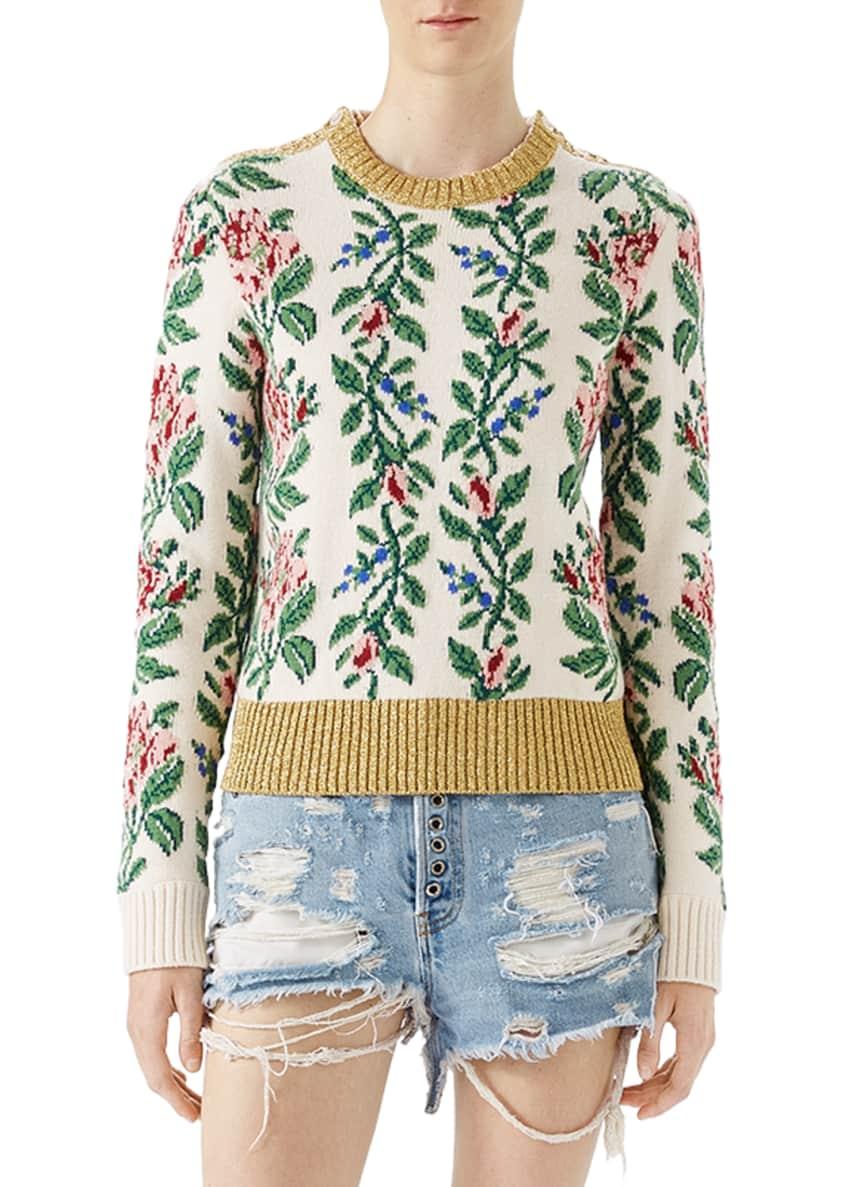 Gucci Shredded Bleached Denim Shorts & Matching Items