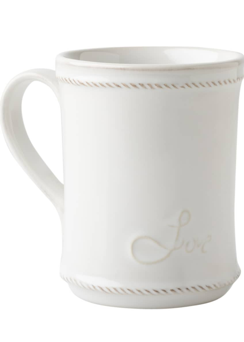 Image 2 of 2: Berry & Thread Whitewash Cup Full of Love Mug