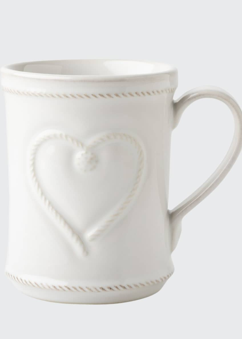 Image 1 of 2: Berry & Thread Whitewash Cup Full of Love Mug