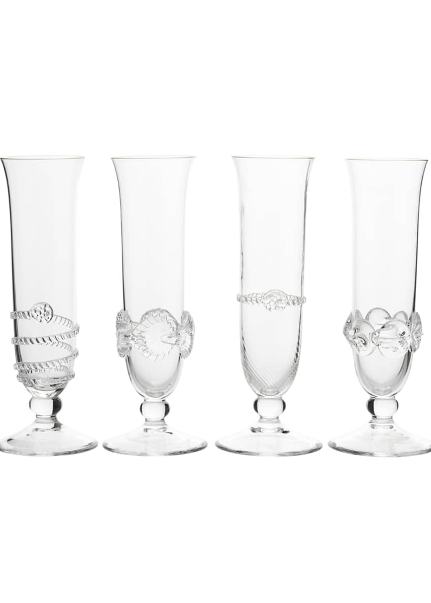 Juliska Heritage Collectors Flutes, Set of 4