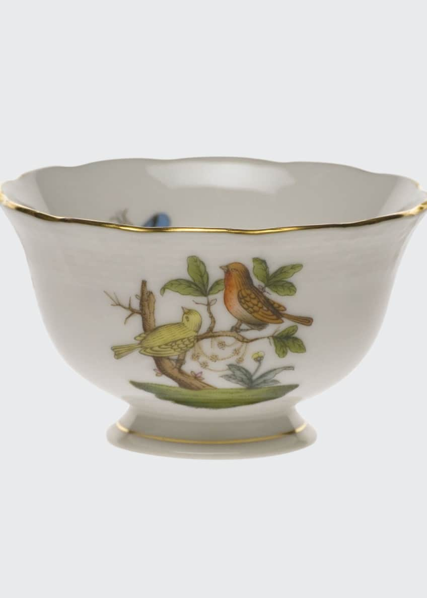 Herend Rothschild Bird Open Sugar Bowl