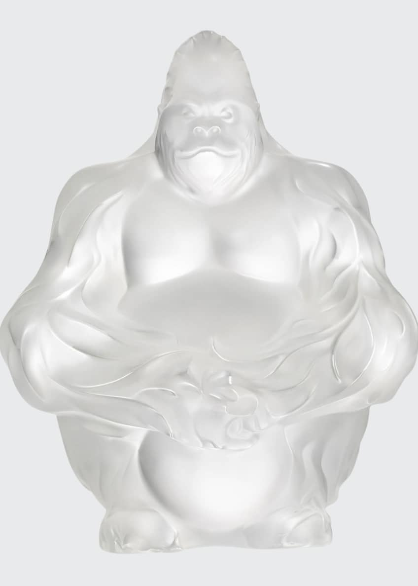 Image 1 of 1: Crystal Gorilla Sculpture/Figurine, Clear
