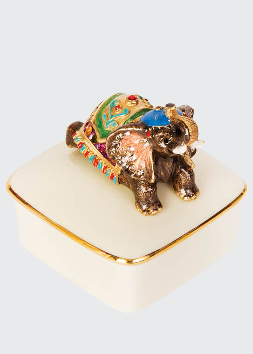 Image 1 of 1: Elephant Porcelain Box
