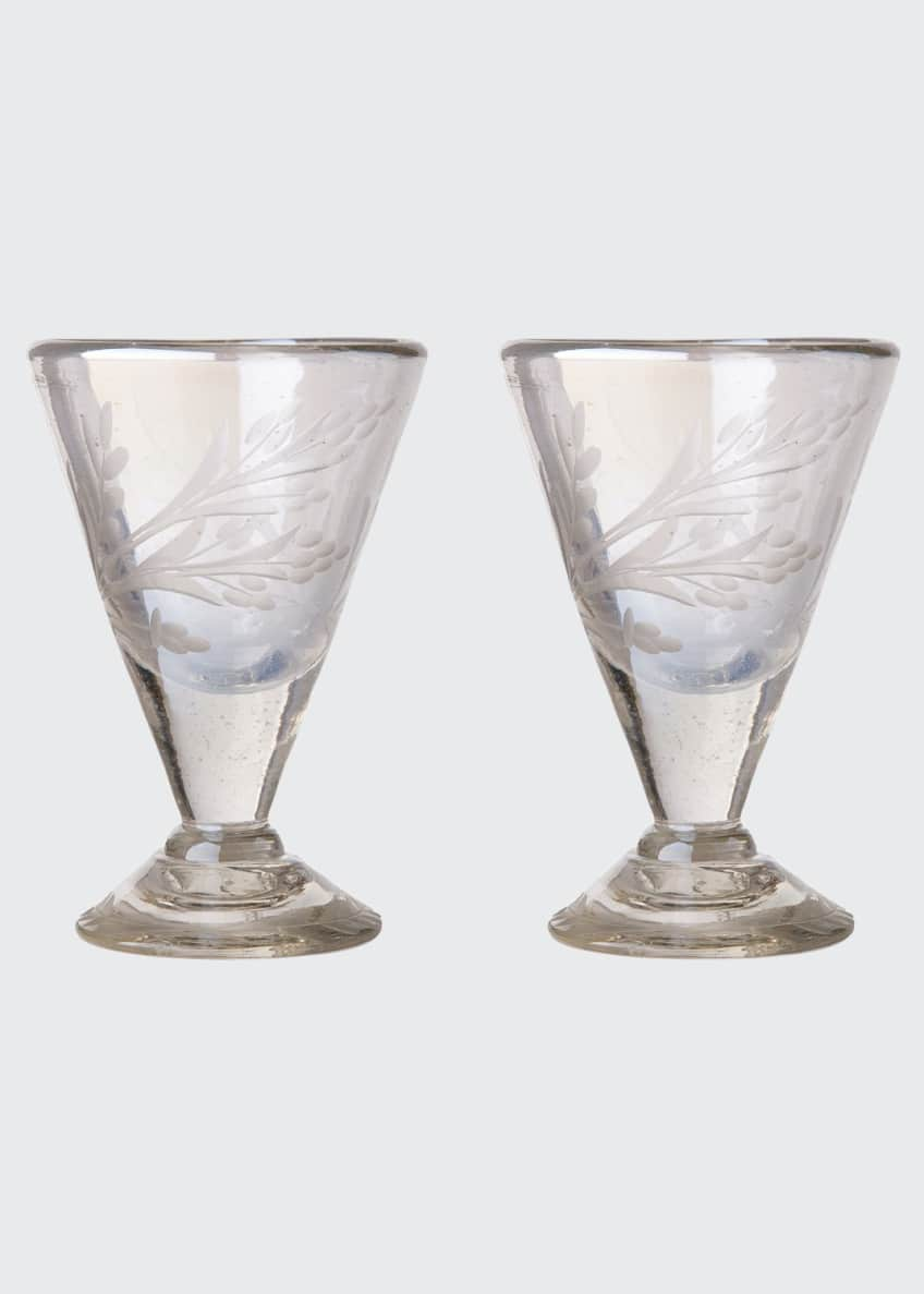 Image 1 of 2: Lustre d'Pasion Cordial Glasses Pair, Clear