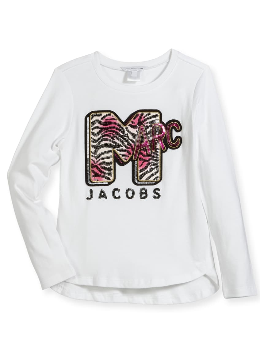 Little Marc Jacobs MTV Logo Long-Sleeve T-Shirt, Size