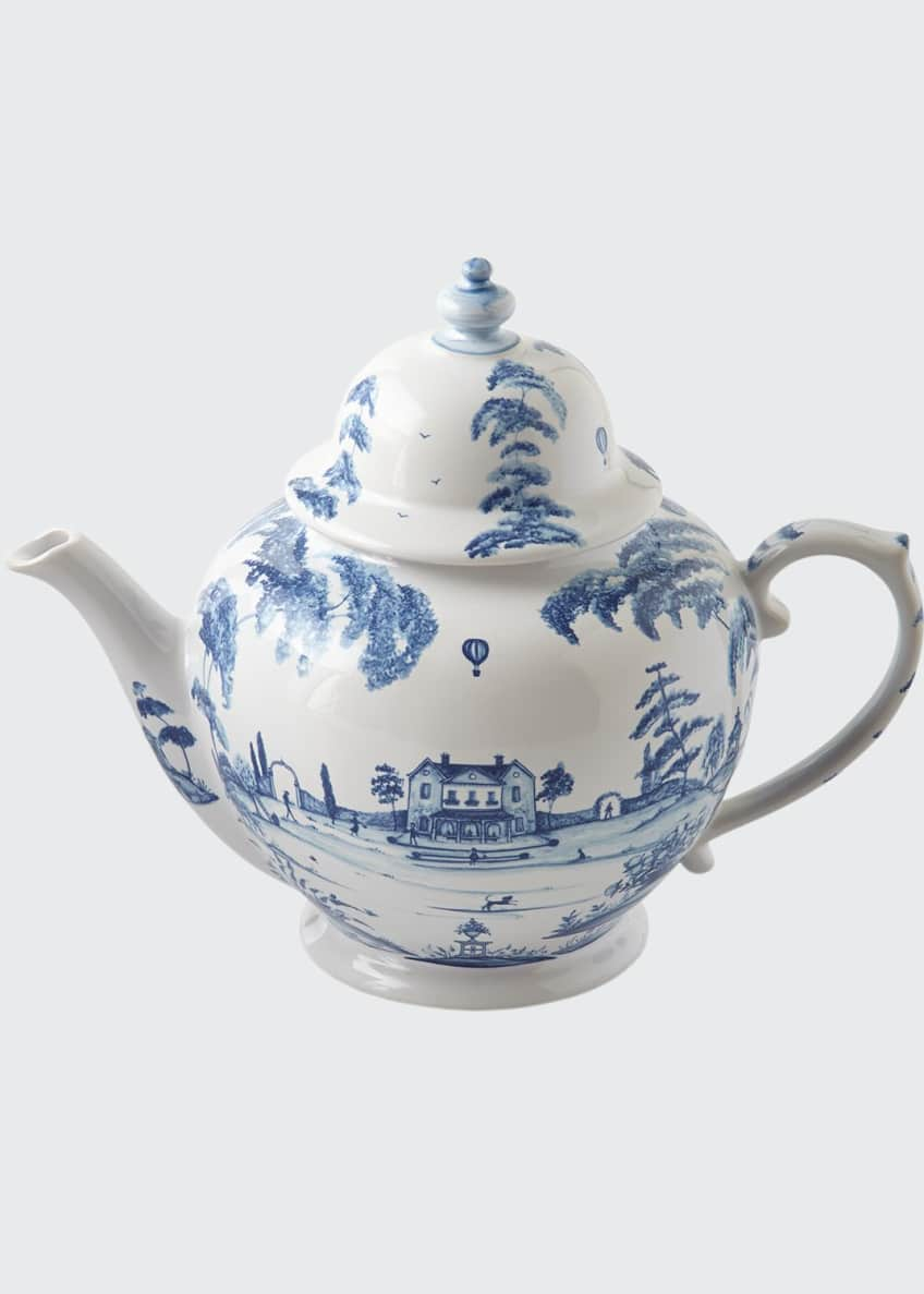 Image 1 of 2: Country Estate Delft Blue Teapot Main House