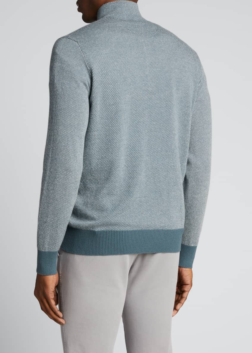 Image 2 of 2: Men's Roadster 1/4-Zip Cashmere Sweater