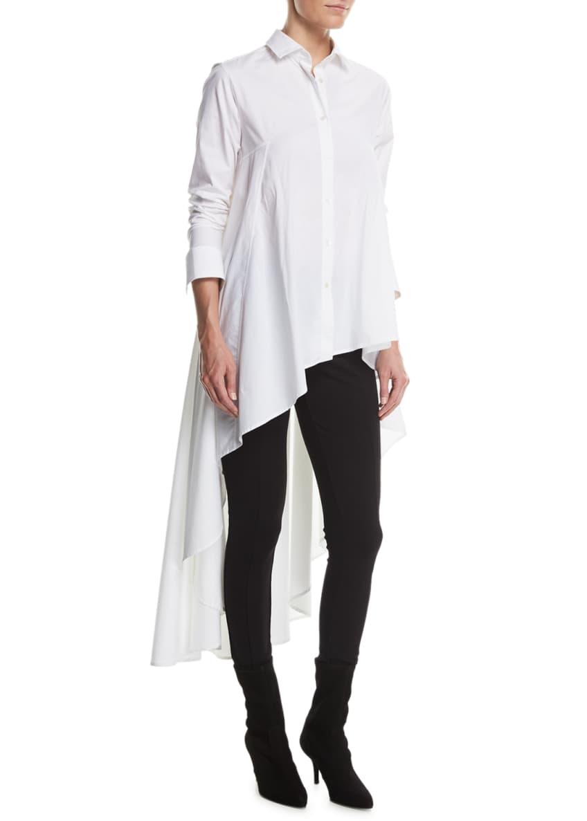 palmer//harding Long Button-Front Poplin Super Shirt & Matching
