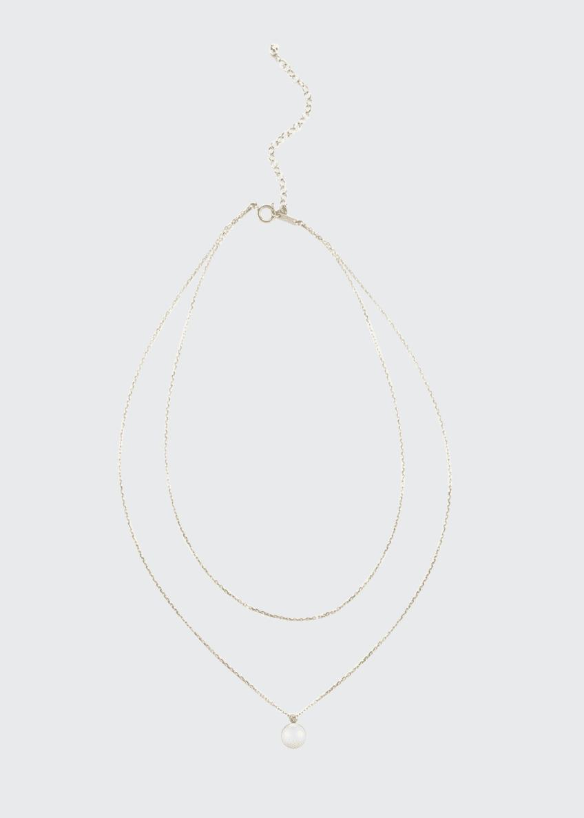 Mizuki Layered Chain Pearl & Diamond Choker Necklace