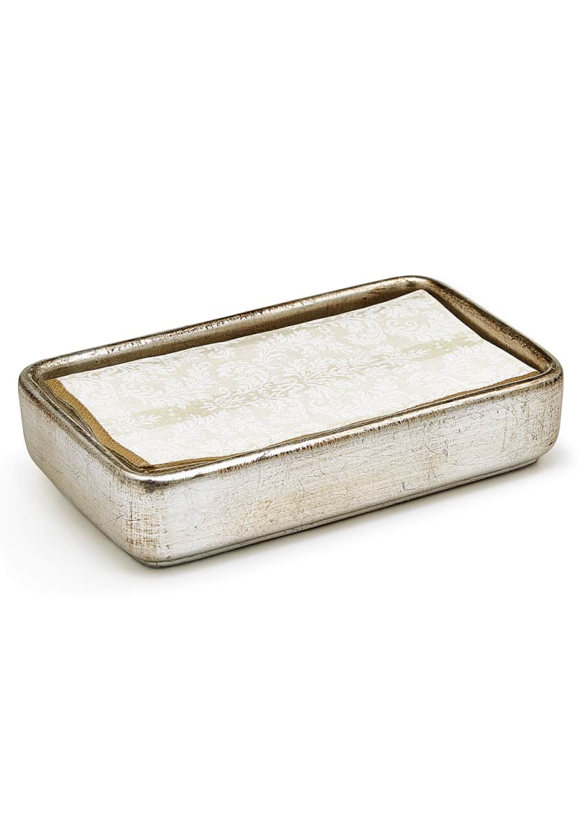 Image 2 of 2: Ava Towel Tray, Silver