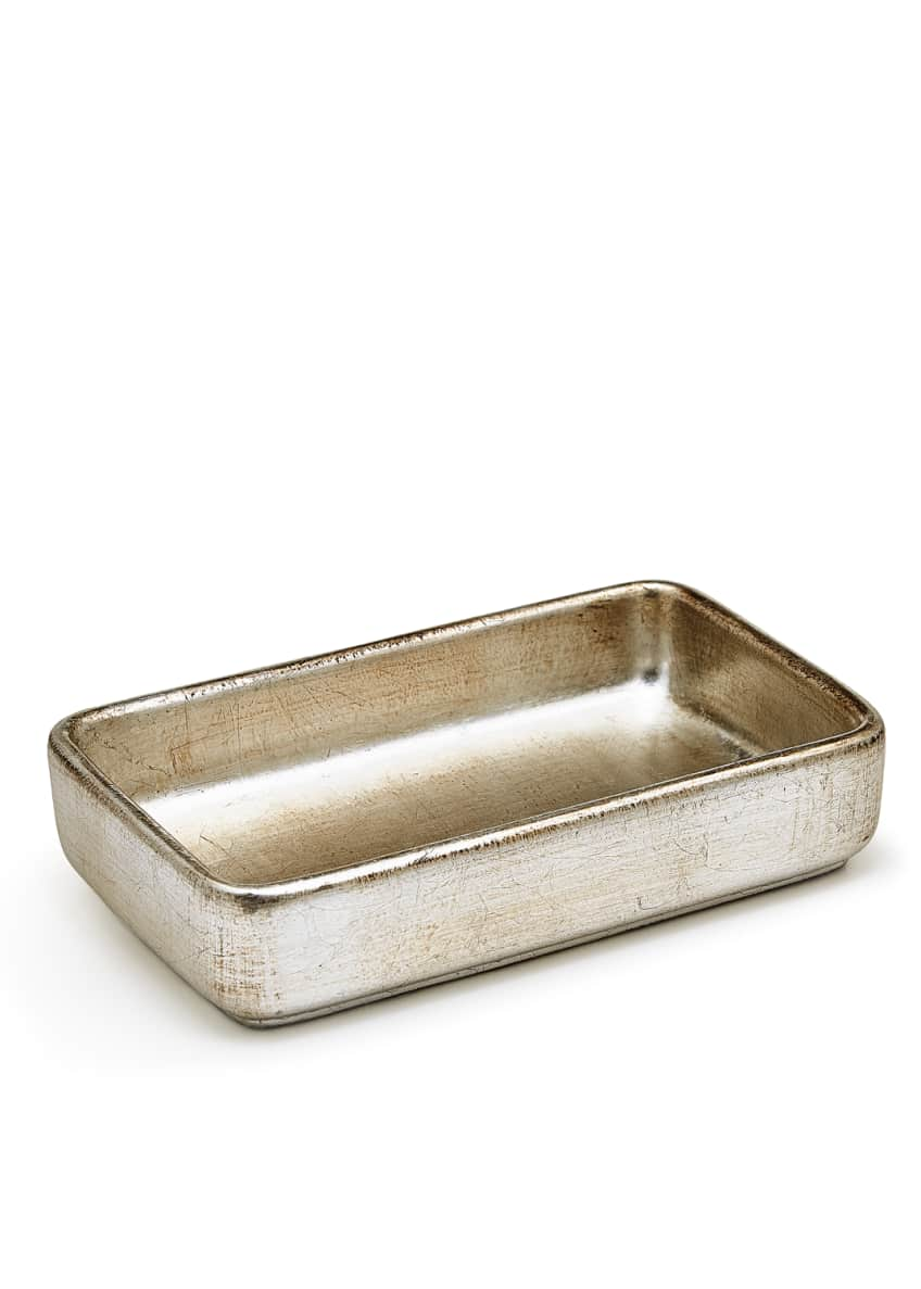 Image 1 of 2: Ava Towel Tray, Silver