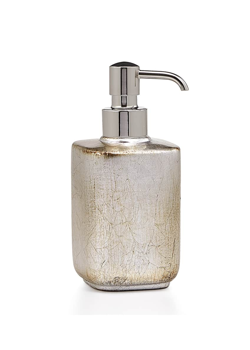 Image 1 of 1: Ava Soap Pump Dispenser, Silver