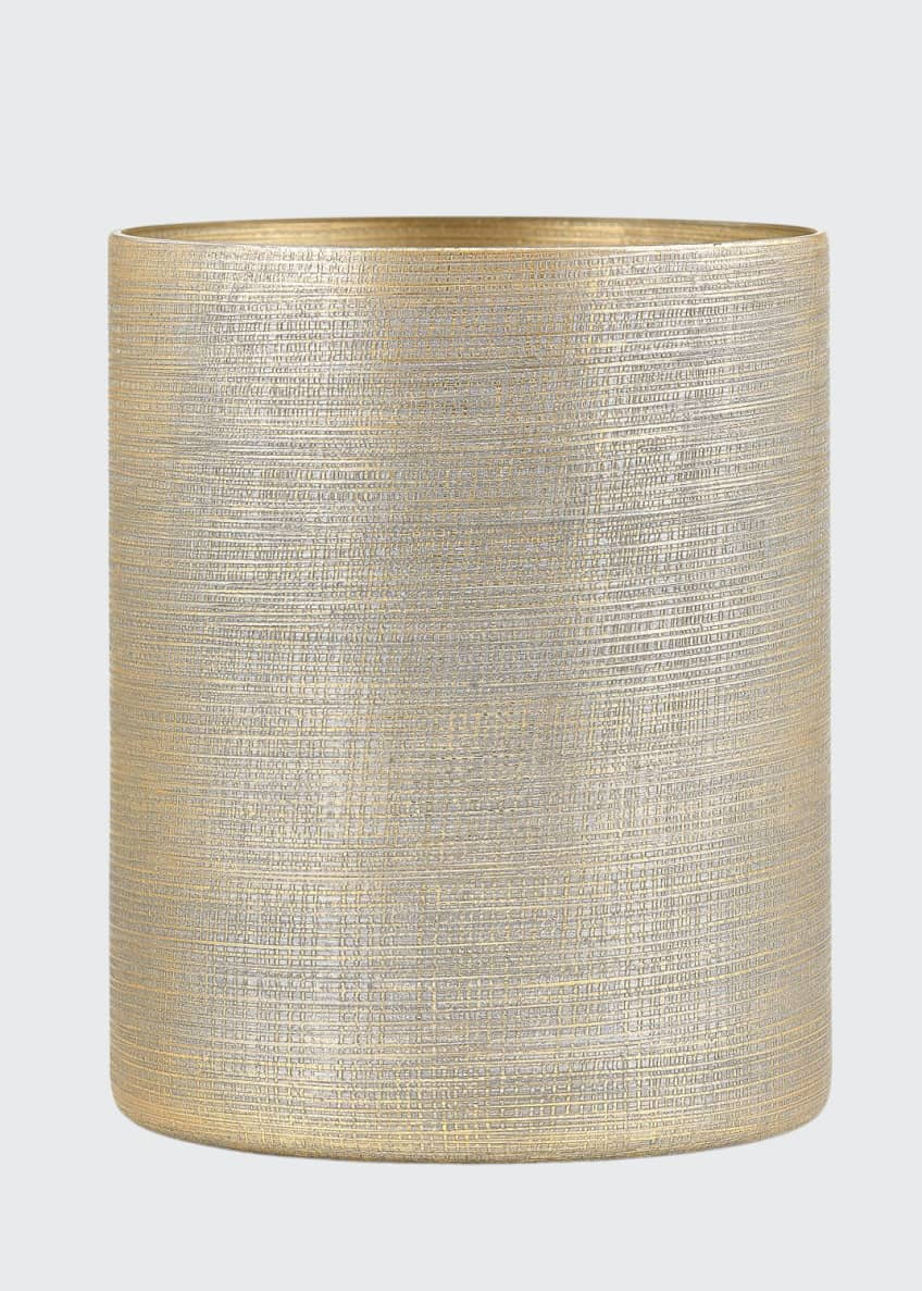 Image 1 of 1: Woven Metallic Wastebasket