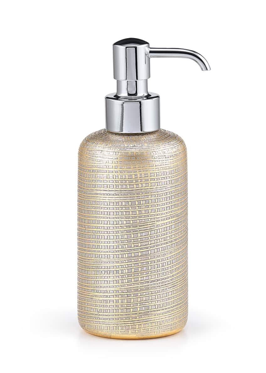 Image 1 of 1: Woven Metallic Pump Dispenser with Nickel Polished Top