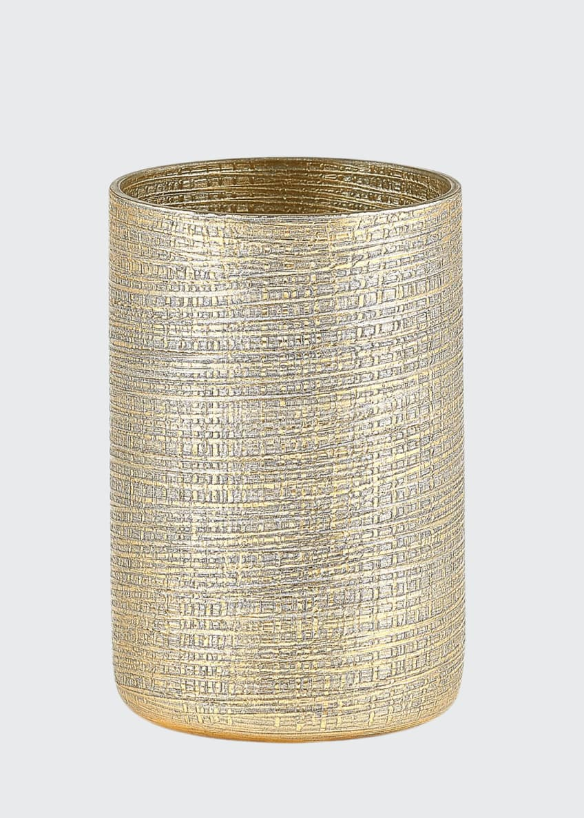 Image 1 of 3: Woven Metallic Brush Holder