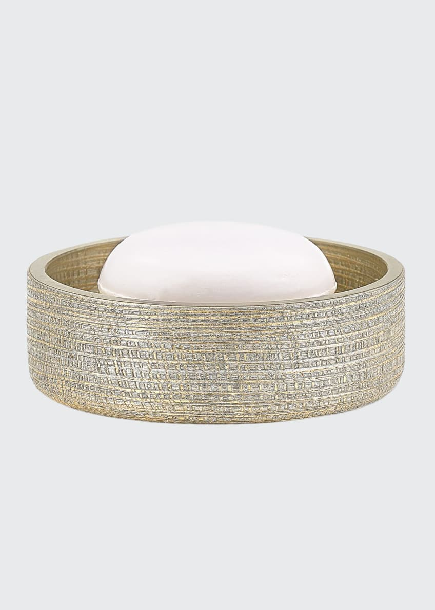 Image 1 of 1: Woven Metallic Soap Dish