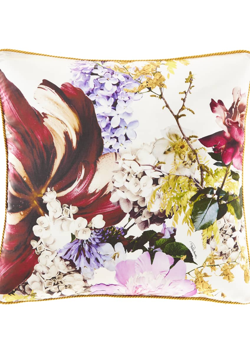 "Image 1 of 1: Floris Silk Pillow, 23""Sq."