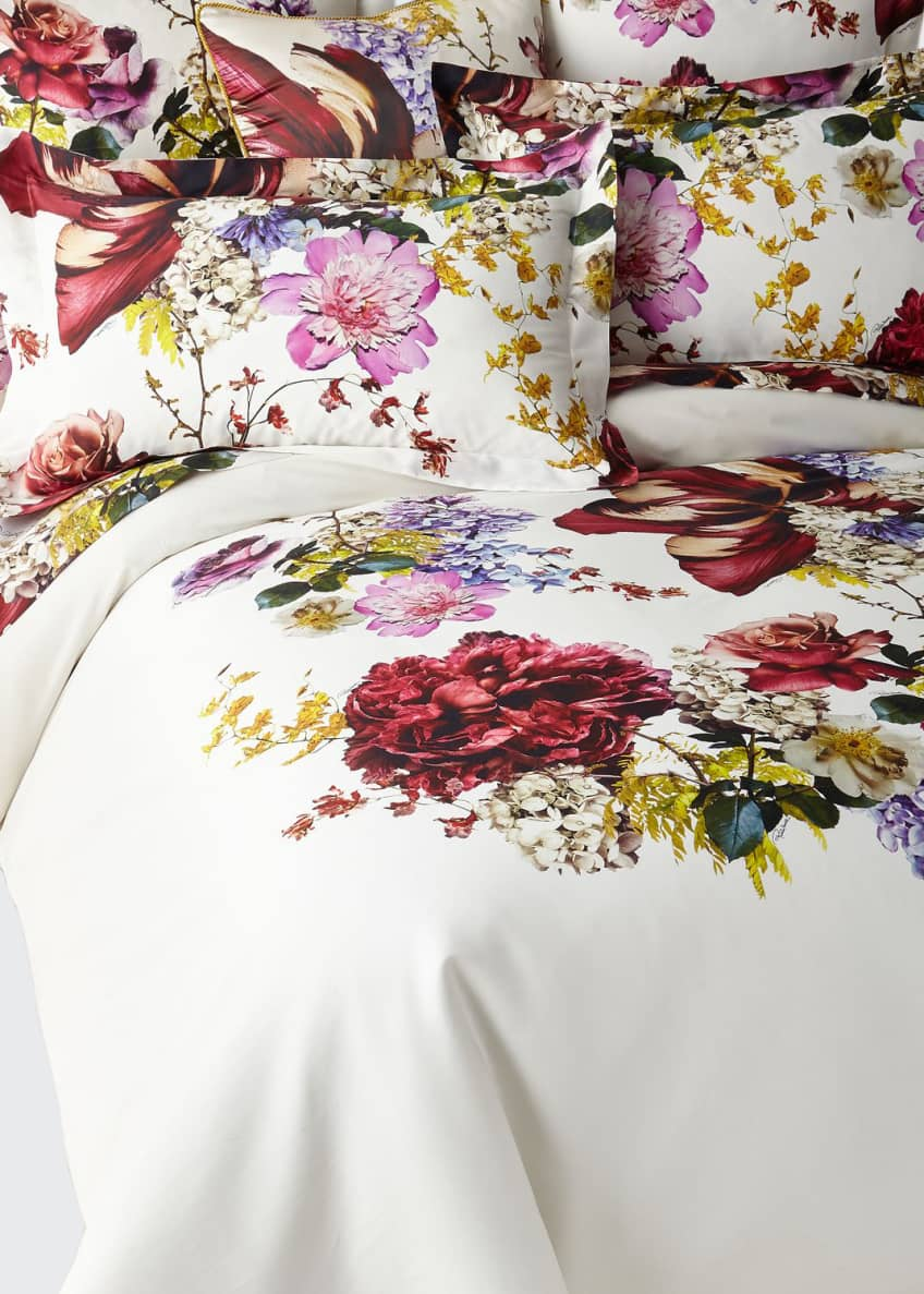 Image 1 of 1: Floris Queen Duvet Cover