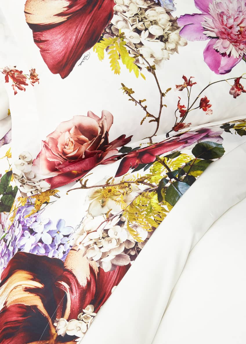 Image 1 of 1: Floris Queen Flat Sheet