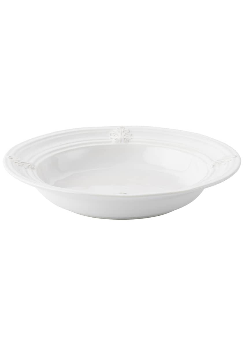 Juliska Acanthus Whitewash Pasta/Soup Bowl