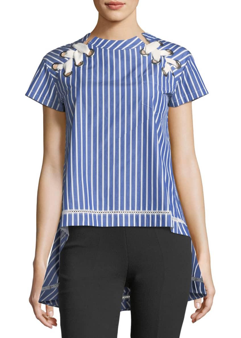 SACAI Ruffle-Side Denim Skirt & Matching Items
