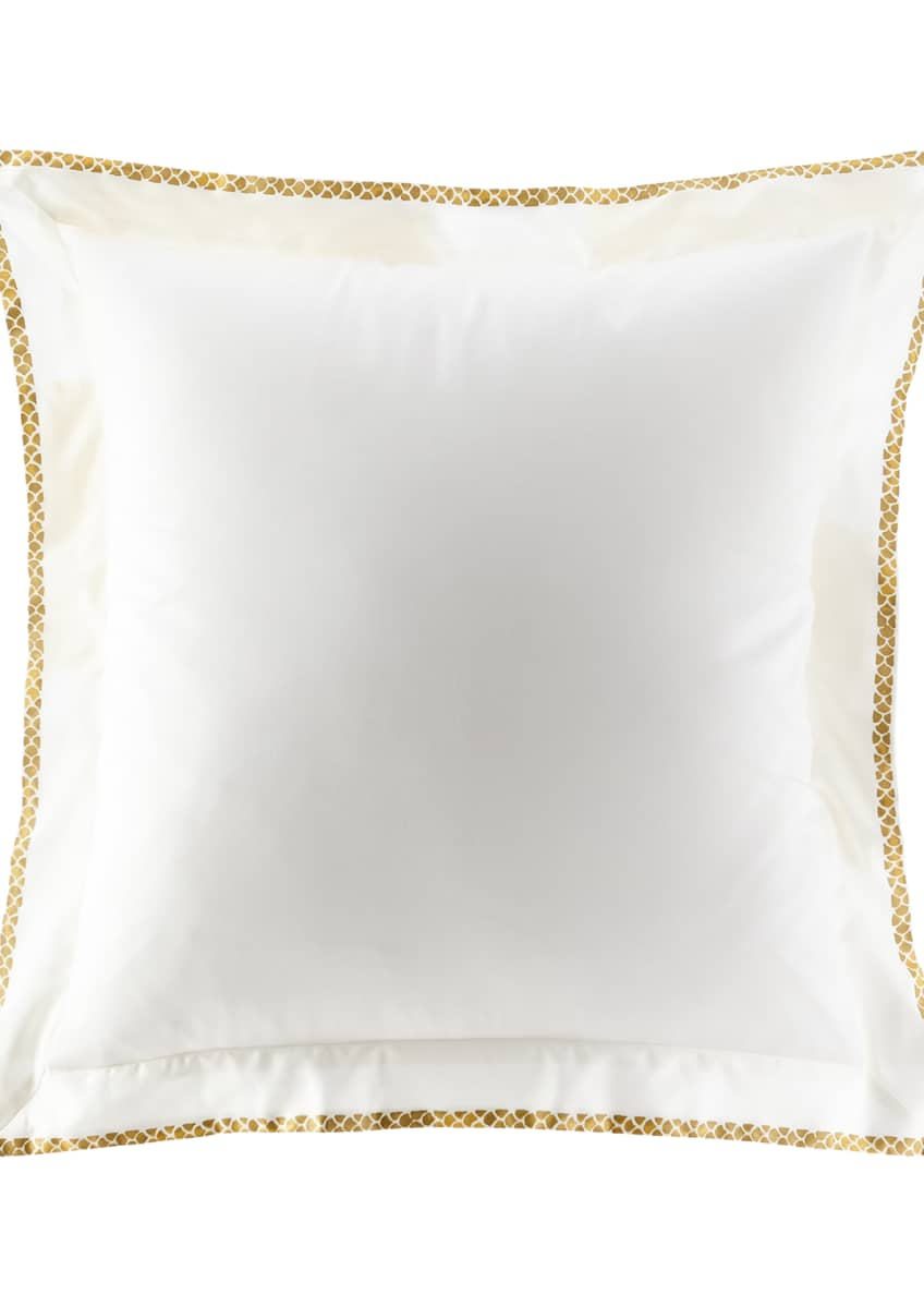 Image 1 of 1: New Gold European Sham, Set of Two