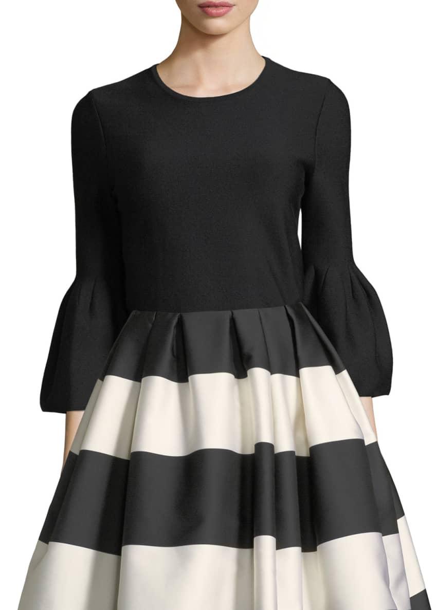 Carolina Herrera Striped Taffeta Party Skirt & Matching