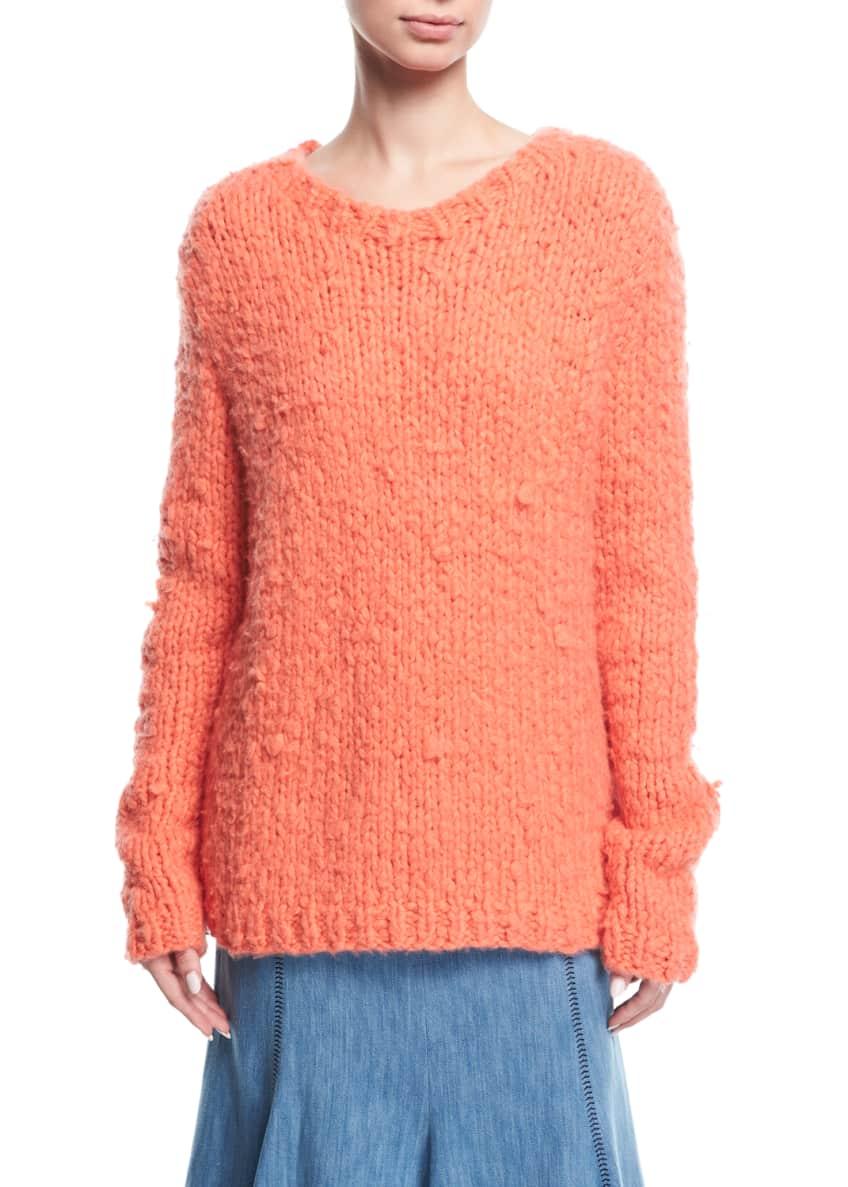 Gabriela Hearst Flared Chevron-Stitch Midi Skirt & Matching