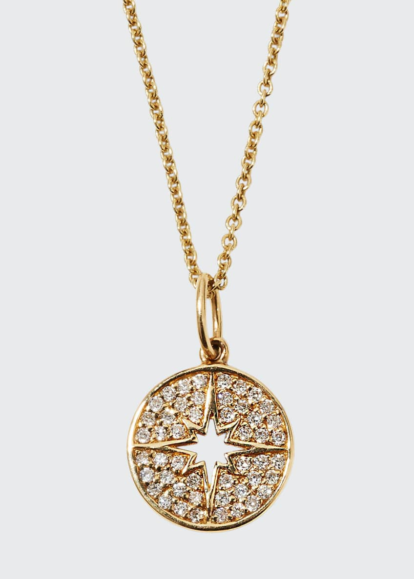 Image 1 of 1: Anniversary Small Starburst Medallion Necklace with Diamonds