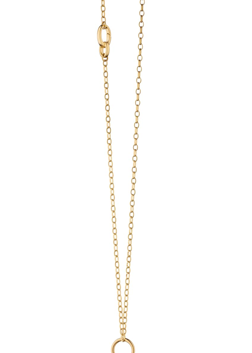 Image 2 of 2: 18K Gold Belcher Chain Necklace with 3 Enhancers