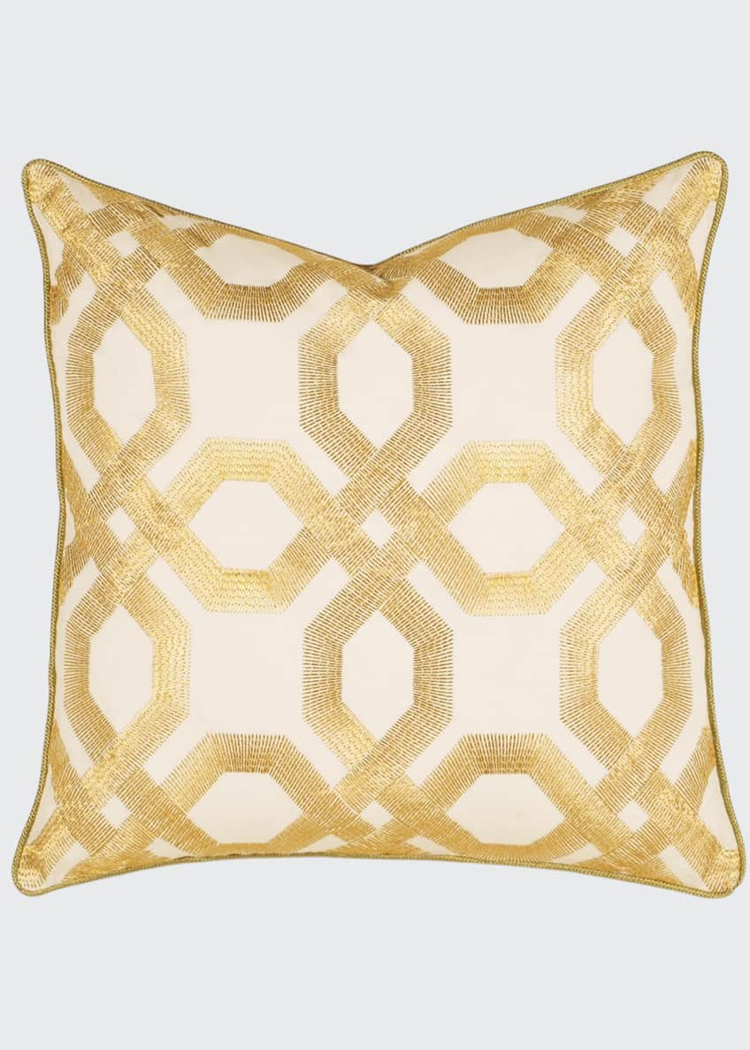 Image 1 of 1: Luxe Square Decorative Pillow