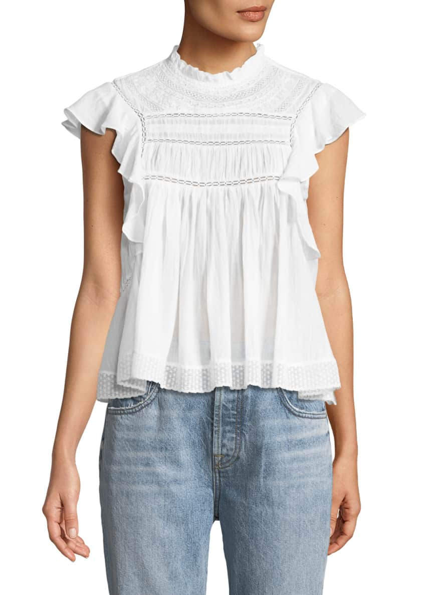 Etoile Isabel Marant Vivia Sleeveless Cotton Blouse with
