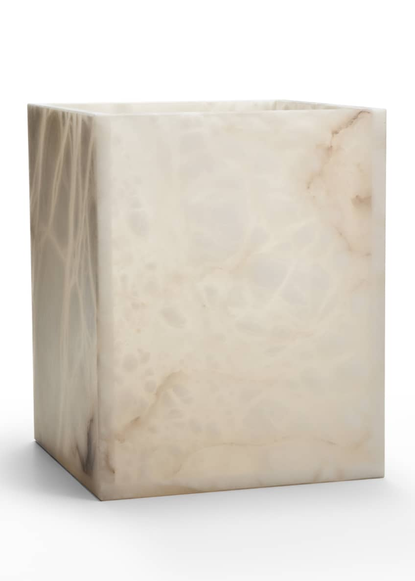 Image 1 of 1: Alisa Alabaster Wastebasket, Cream