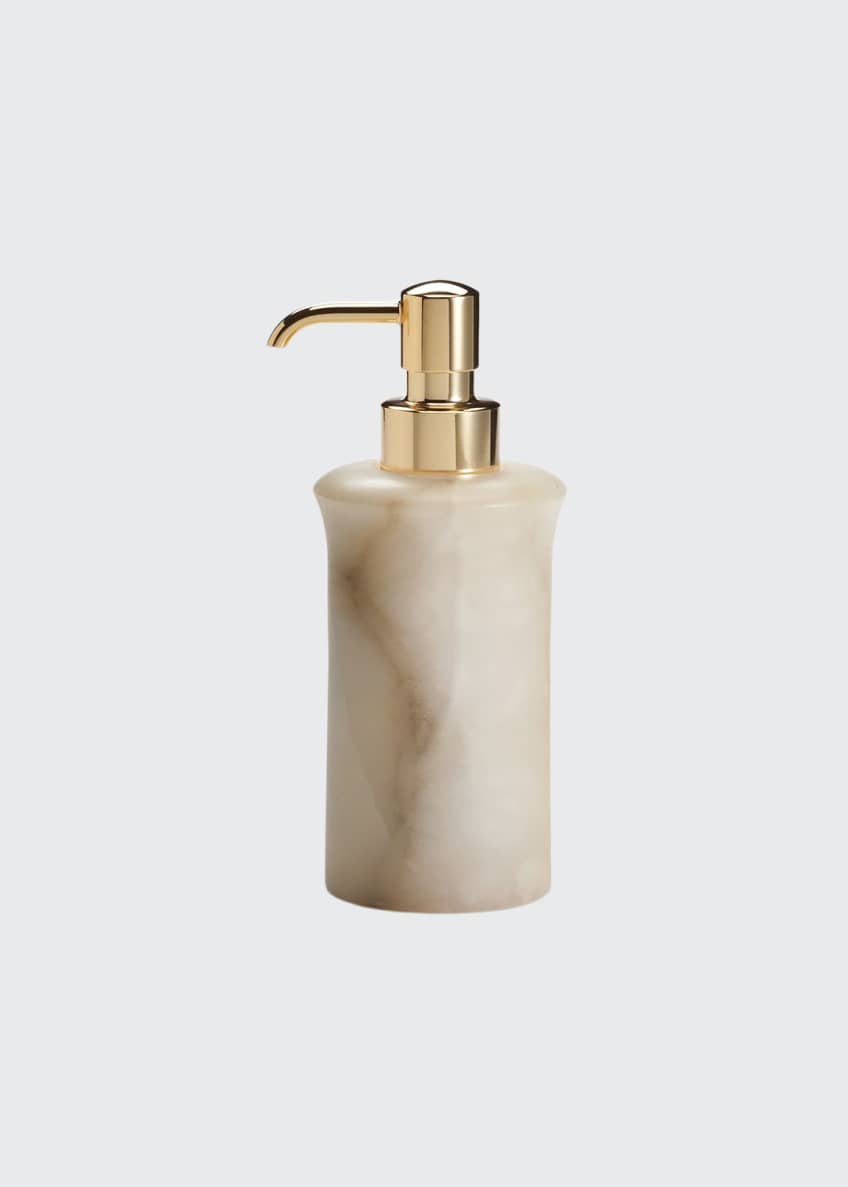Image 1 of 1: Alisa Alabaster Pump Dispenser, Cream