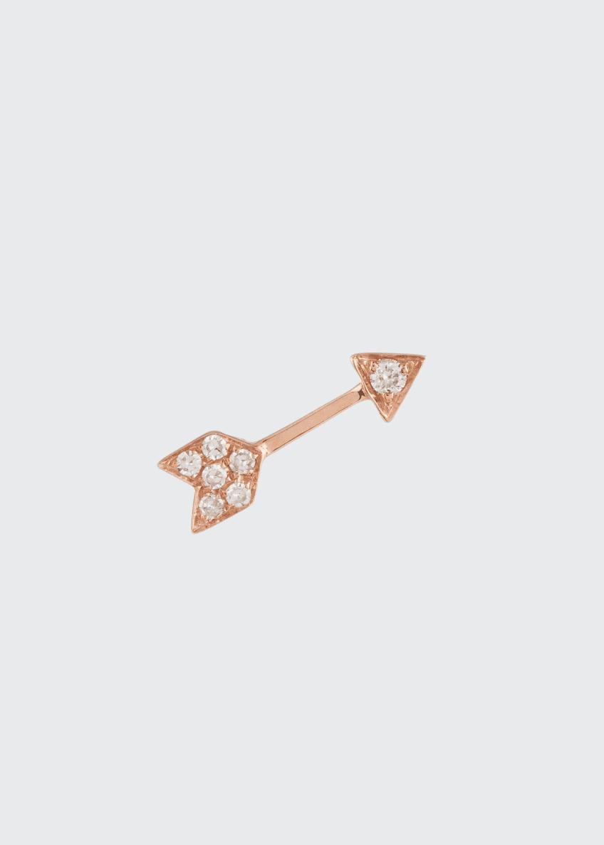 EF Collection Mini Diamond Arrow Single Stud Earring