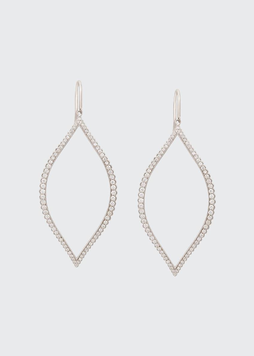 Jamie Wolf Diamond Marquis Leaf Drop Earrings