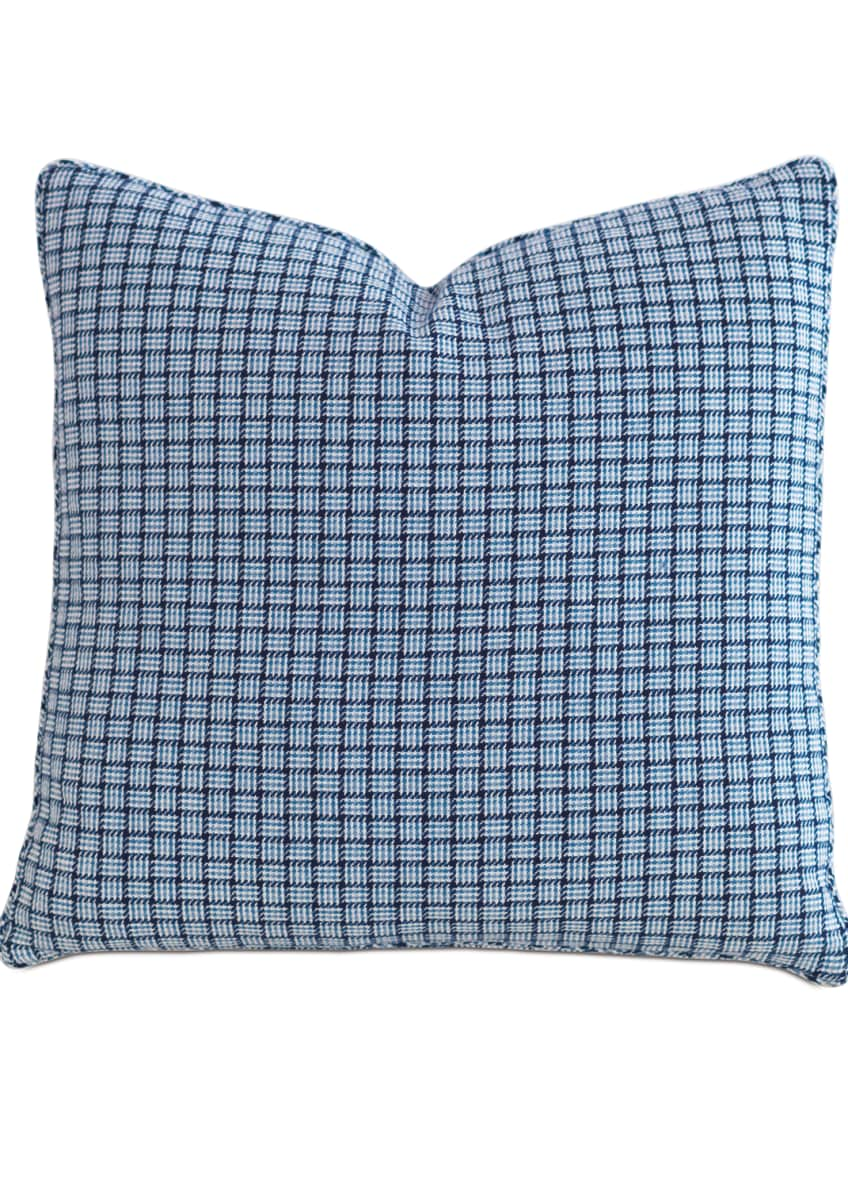 "Image 1 of 1: Watermill Indigo Decorative Pillow, 22""Sq."