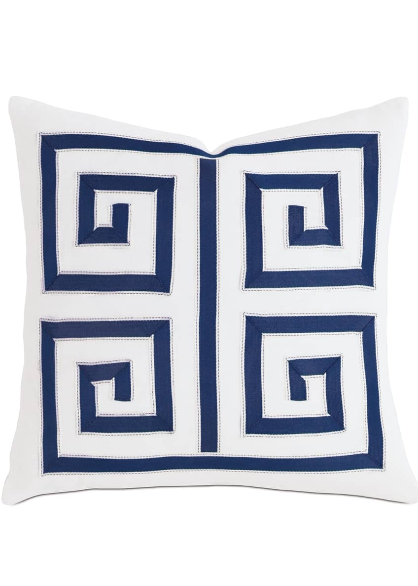 "Image 1 of 1: Watermill Indigo Decorative Pillow, 18""Sq."