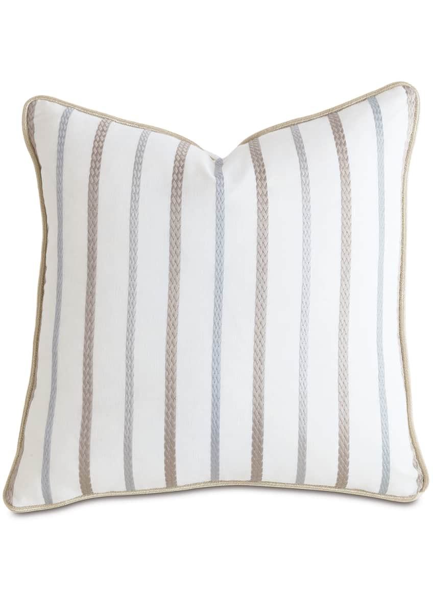 "Image 1 of 1: Watermill Taupe Decorative Pillow, 22""Sq."