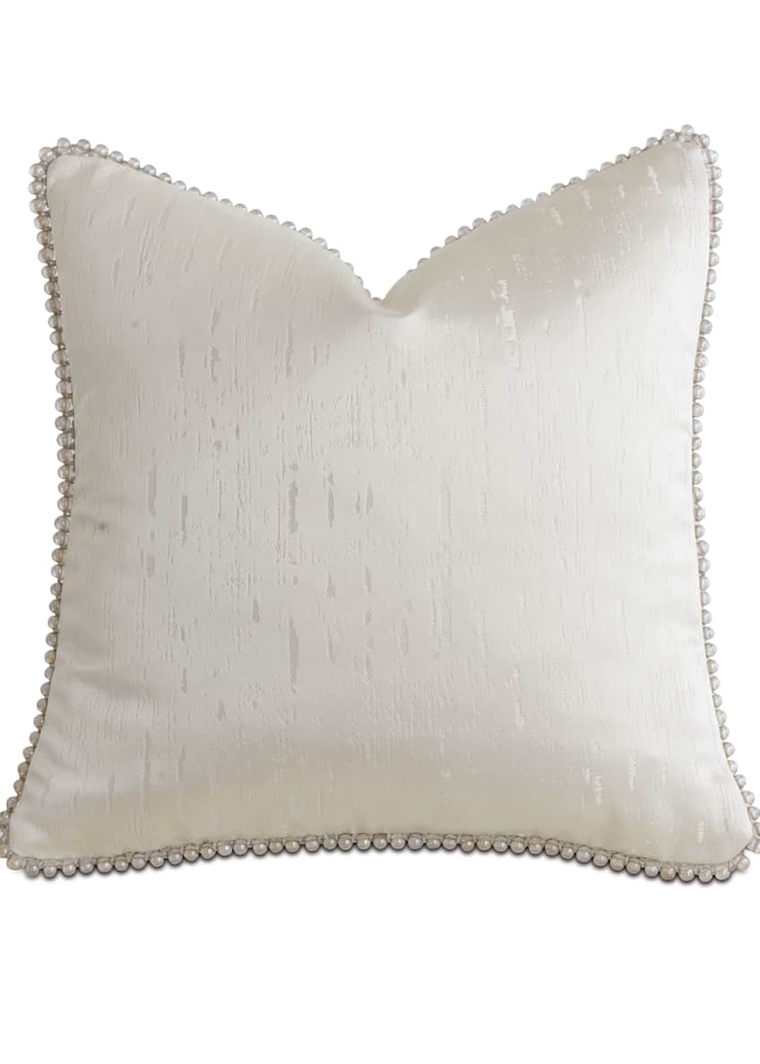 "Image 1 of 1: Watermill Taupe Decorative Pillow, 18""Sq."